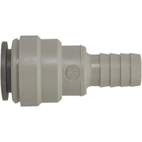 Connecteur à queue cannelée gris Ø22mm / 3/4 avec joint EPDM